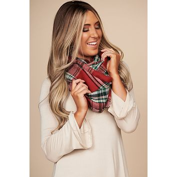 Good Soul Infinity Scarf (Red)