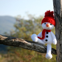 crochet snowman little amigurumi animal winter christmas gift for children stuffed snowman