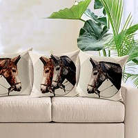 Decorative Equestrian Horse Pillow Covers