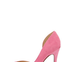 Chinese Laundry Copertina Pink Kid Suede D'Orsay Heels