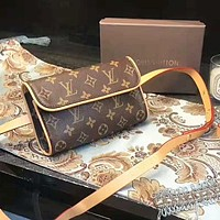 LV Louis Vuitton Women Fashion New Monogram Shoulder Bag Waist Bag