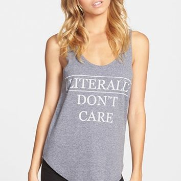 Junior Women's Recycled Karma 'I Literally Don't Care' Graphic Tank