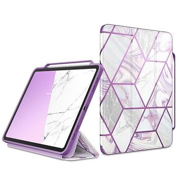 I-BLASON For iPad Pro 11 Case (2020) Cosmo Full-Body Trifold Stand Marble Case Flip Cover with Auto Sleep/Wake & Pencil Holder