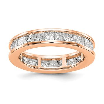 3 Ct. Channel Set Princess Cut Diamond Eternity Wedding Band Ring 14k Rose Gold