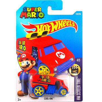 Hot Sale Hot Wheels 2016 super mario cool one cars Models Metal Diecast Car Collection Kids Toys Vehicle For Children