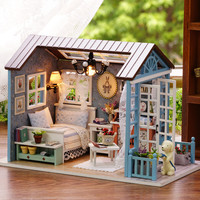 Christmas Gift Creative 2016 New  Miniature Doll House Model Building Kits Wooden Furniture Toys Brithday Gifts-Forest Times