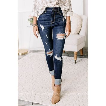 Peace Of Mind High Rise Distressed Skinny Jeans