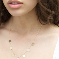 Gypsy Coin Necklace 14K Gold