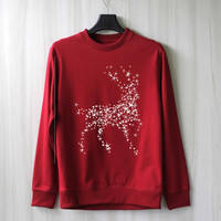 Reindeer Sweatshirt Ugly Christmas Sweater Shirt – Size XS S M L XL