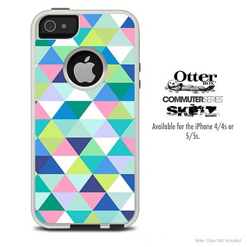 The Fun Colored Triangular Cubes Skin For The iPhone 4-4s or 5-5s Otterbox Commuter Case