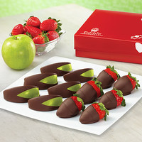 Chocolate Dipped Apples and Strawberries Box