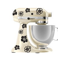 KitchenAid mixer art, Hibiscus flower decal