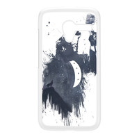 Wolf Song 3 White Hard Plastic Case for Moto X by Balazs Solti