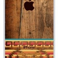 iZERCASE Aztec on wood rubber iphone 4 case - Fits iphone 4 & iphone 4s