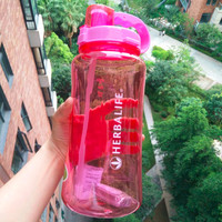 2000ML 32oz/64oz Eco-Friendly Plastic Water Bottle adults handgrip Space Cup Sports climbing Hiking Herbalife water bottle