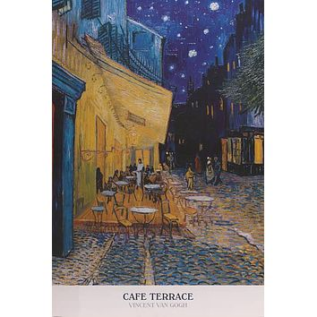 Vincent Van Gogh Cafe Terrace at Night Poster 24x36