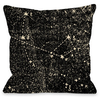 """Vintage Constellations"" Indoor Throw Pillow by OneBellaCasa, 16""x16"""