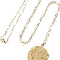 Brooke Gregson - Gemini 14-karat gold diamond necklace