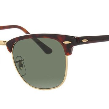 Ray-Ban RB3016 Classic Clubmaster Sunglasses - 49mm Tortoise