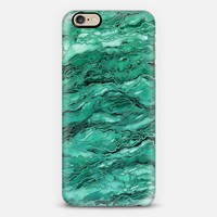 MARBLE IDEA! - EMERALD JADE GREEN, Colorful Abstract Art Watercolor Painting Metallic Accents Chic Geological Stone Agate Geode Malachite Rock Pattern Modern Trendy Style Design Monochrome iPhone 6s case by Ebi Emporium | Casetify