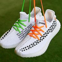 OFF WHITE x ADIDAS Yeezy Fashion Men Women Casual Breathable Sport Running Shoes Sneakers