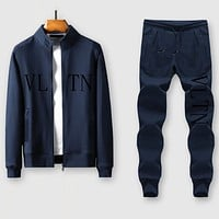 Boys & Men Valentino VLTN Casual Edgy Cardigan Jacket Coat Pants Trousers Set Two-Piece