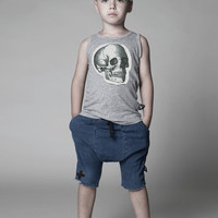 Nununu Deconstructed Tank Top with Patch in Gray - NU0768