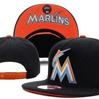 Perfect MLB Miami Marlins Snapback hats Women Men Embroidery Sports Sun Hat Baseball Cap Hat