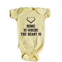 Home Is Where The Heart Is Baby Onesuit