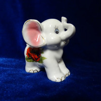 VINTAGE Porcelain Figurine elefant antique ussr romania small 8