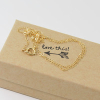 Plain Chain, Gold, Simple and Delicate dainty chain in 14k GF