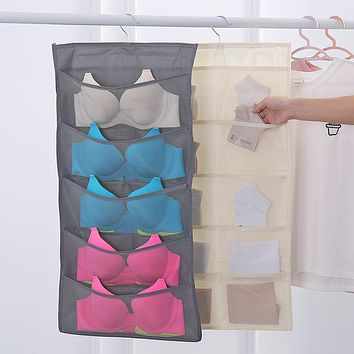 Household Bedroom Clothes Socks Receive Bag Hanging Bags Wall Hung Double Underwear Hang Cabinet Receive Bag