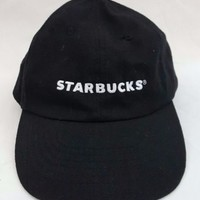 Starbucks Authentic Black Hat Employee Embroidered Barista Adjustable Cap