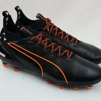 Puma evoTOUCH Pro FG Black Orange Football Soccer Cleats 103671 03 Size 11