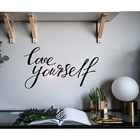 Wall Decal Love Yourself Motivational  Words Letter Interior Decor z4933