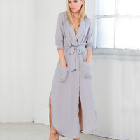 LOOSE LONG-SLEEVED DRESS