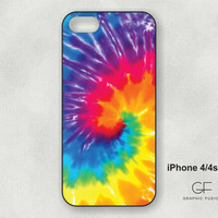 Choice of iphone 5 or  4/4s case   Tie Dye Design by GraphicFusion