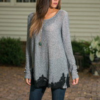 Hey There Hemline Tunic, Black