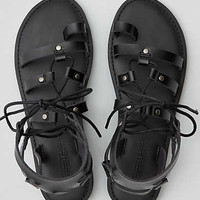 AEO Toe Ring Lace-Up Sandal , Black