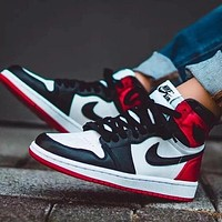 Nike Air Jordan High Retro Black Toe Basketball Shoes