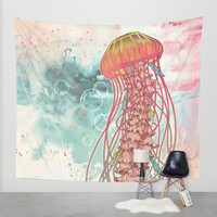 Jellyfish Wall Tapestry by Mat Miller