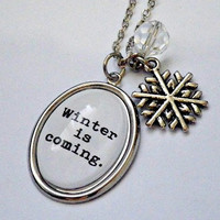 """Game of Thrones: """"Winter is Coming"""" House Stark pendant necklace"""