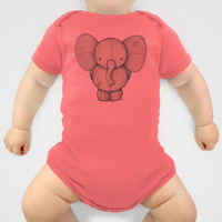 Cute Elephant Baby Clothes by Mike Koubou
