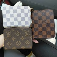Louis Vuitton LV Hot Sale Zipper Clutch Bag Wristlet Wallet Purse