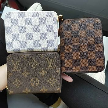 Vsgirlss Louis Vuitton LV Hot Sale Zipper Clutch Bag Wristlet Wallet Purse