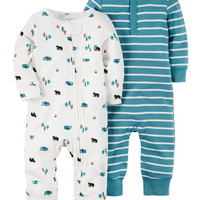2-Pack Babysoft Coveralls