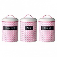 Neon Pink Kitchen Canisters
