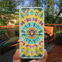Yellow and blue Mandala iphone 4/4s case iphone 5/5s/5c case samsung galaxy s3/s4 case galaxy S5 case Waterproof gift case 159