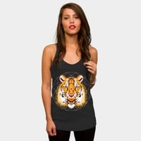 Geometric Tiger Racerback By Chobopop Design By Humans