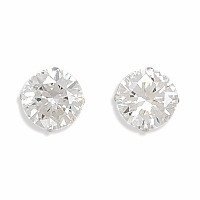 10mm Clear Cubic Zirconia Stud Earrings